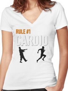 RULE #1 CARDIO Women's Fitted V-Neck T-Shirt