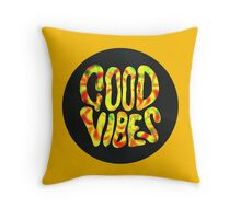Good Vibes - Rasta  Throw Pillow