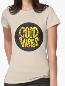Good Vibes - Rasta  Womens Fitted T-Shirt