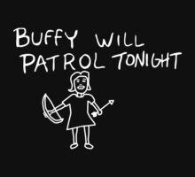 Buffy Will Patrol Tonight (Inverted) by Paul Elder