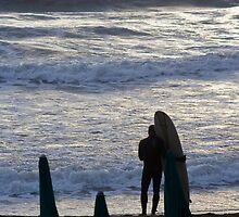Surfer's Waiting,Levanto,Italy by Davide Ferrari