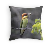 Caught in Action Throw Pillow