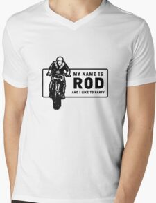 My Name Is Rod, And I Like To Party Mens V-Neck T-Shirt