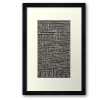 Brown abstract surface Framed Print