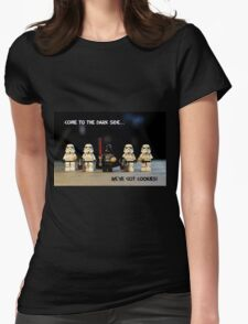 Dark Side Cookies Womens Fitted T-Shirt