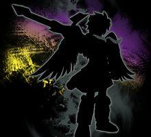 Super Smash Bros Dark Pit Silhouette by jewlecho