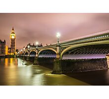 WESTMINSTER BRIDGE LONDON Photographic Print