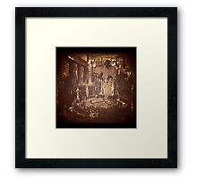 hidden terrace Framed Print