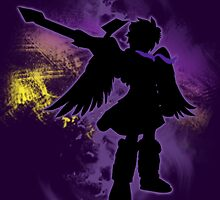 Super Smash Bros Purple Dark Pit Silhouette by jewlecho