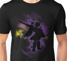 Super Smash Bros Purple Dark Pit Silhouette Unisex T-Shirt