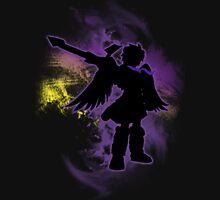 Super Smash Bros Purple Dark Pit Silhouette Unisex T-Shirt