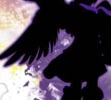 Super Smash Bros Purple Dark Pit Silhouette Sticker