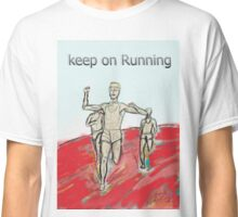athletes runners marathon man Classic T-Shirt
