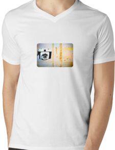 Camera Graffiti Mens V-Neck T-Shirt