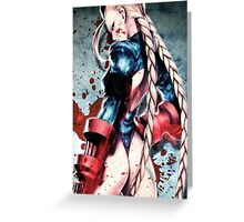 Street Fighter Cammy Greeting Card