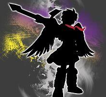 Super Smash Bros White Dark Pit Silhouette by jewlecho