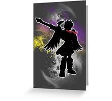 Super Smash Bros White Dark Pit Silhouette Greeting Card