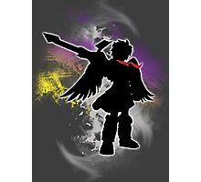 Super Smash Bros White Dark Pit Silhouette Photographic Print