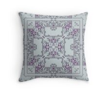 Grey and purple art nouveau pattern Throw Pillow