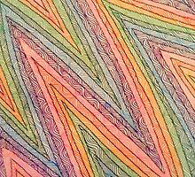 Patterned Rainbow - Hand Drawn  by BellaCullinan