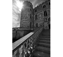 Lulworth castle and the sun Photographic Print