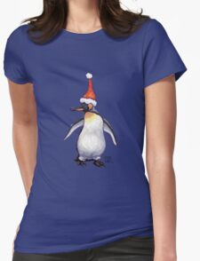 Penguin Christmas Womens Fitted T-Shirt
