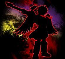 Super Smash Bros Red Dark Pit Silhouette by jewlecho
