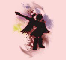 Super Smash Bros Red Dark Pit Silhouette Kids Tee