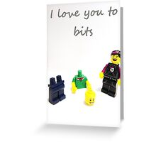Lego love you to bits Greeting Card