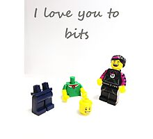 Lego love you to bits Photographic Print