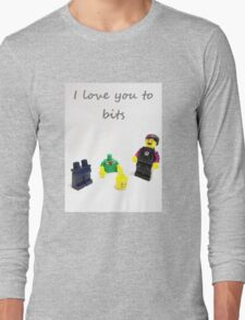 Lego love you to bits Long Sleeve T-Shirt