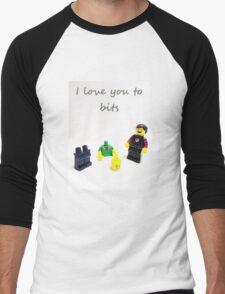 Lego love you to bits Men's Baseball ¾ T-Shirt