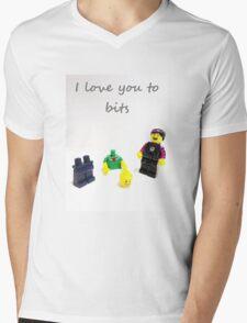 Lego love you to bits Mens V-Neck T-Shirt