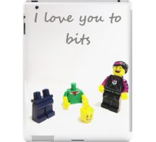 Lego love you to bits iPad Case/Skin