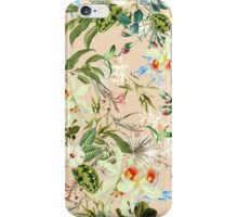 Retro Tropical Flowers iPhone Case/Skin
