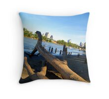 Sacramento River Banks  Throw Pillow