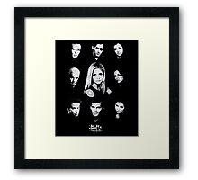 Buffy Cast Framed Print