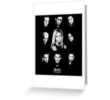 Buffy Cast Greeting Card