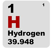 Hydrogen Periodic Table of Elements by walterericsy