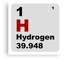 Hydrogen Periodic Table of Elements Canvas Print