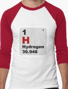 Hydrogen Periodic Table of Elements Men's Baseball ¾ T-Shirt