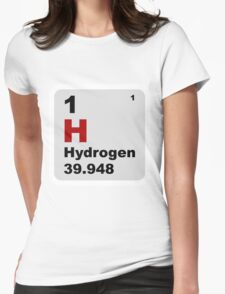Hydrogen Periodic Table of Elements Womens Fitted T-Shirt