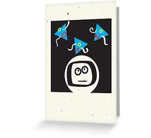 spaced man Greeting Card