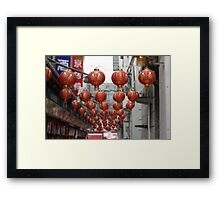 Lanterns of Beijing Framed Print