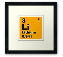Lithium Periodic Table of Elements Framed Print