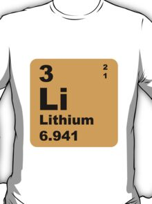 Lithium Periodic Table of Elements T-Shirt
