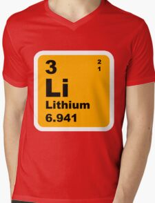 Lithium Periodic Table of Elements Mens V-Neck T-Shirt