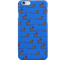 Flame Whale Pattern iPhone Case/Skin