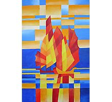 Sailing on the Seven Seas so Blue Cubist Abstract Photographic Print
