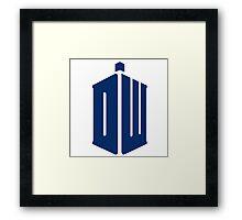 Doctor Who: Logo Model 1 Framed Print